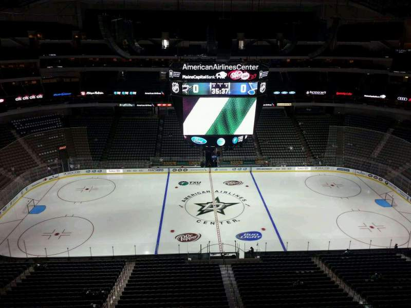 Seating view for American Airlines Center Section 310 Row F Seat 15