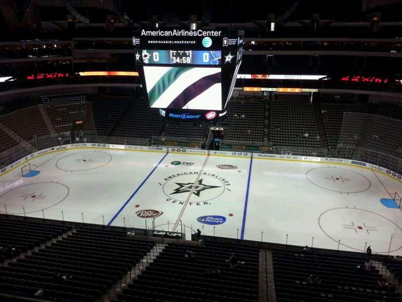 Seating view for American Airlines Center Section 309 Row B Seat 1