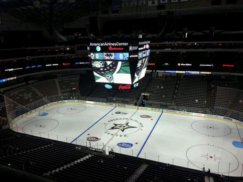 Seating view for American Airlines Center Section 308 Row D Seat 2