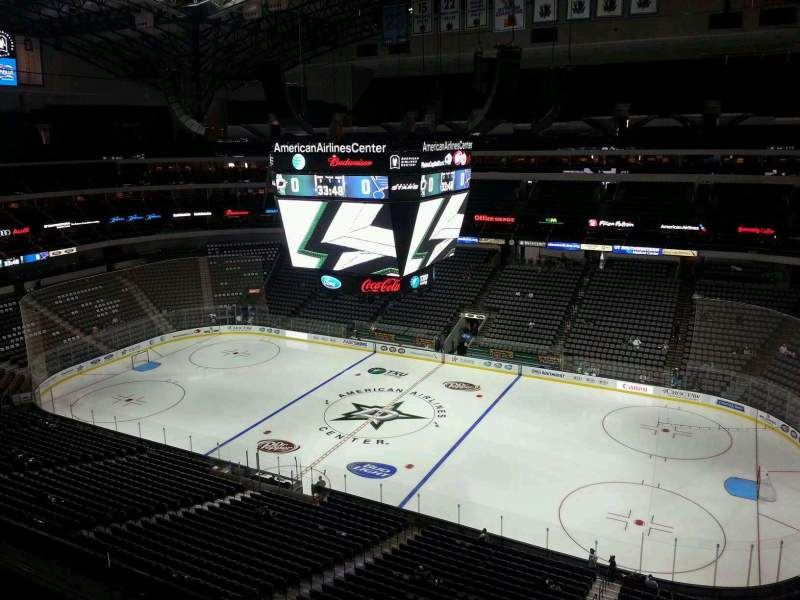 Seating view for American Airlines Center Section 307 Row C Seat 16