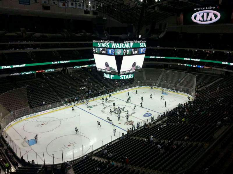 Seating view for American Airlines Center Section 313 Row D Seat 15