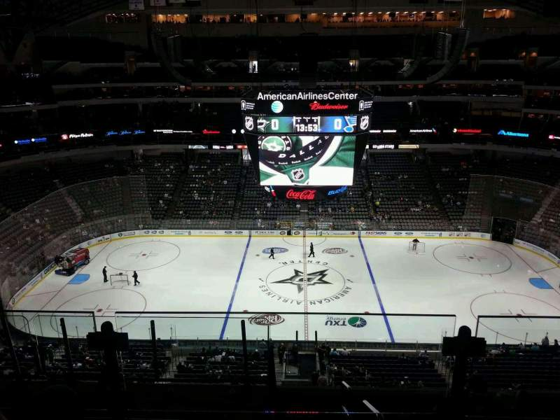 American Airlines Center Section 326 Row G Seat 9 Home