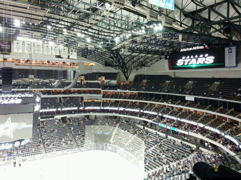 Seating view for American Airlines Center Section 326 Row G Seat 9