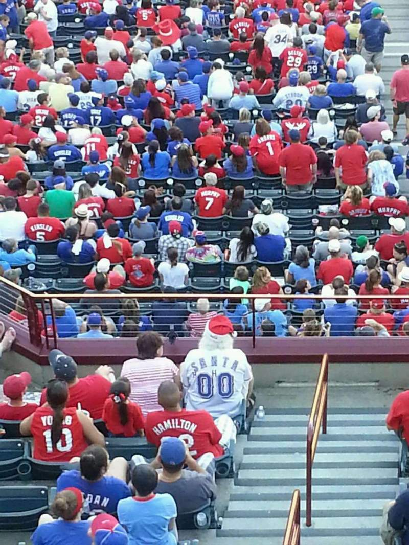 Seating view for Globe Life Park in Arlington Section 341 Row 1 Seat 4