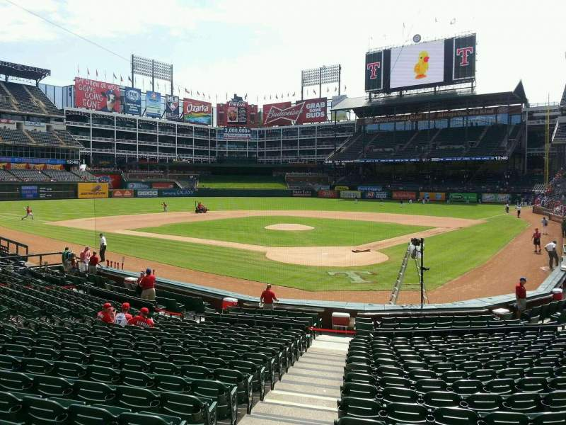 Seating view for Globe Life Park in Arlington Section 25 Row 17 Seat 1