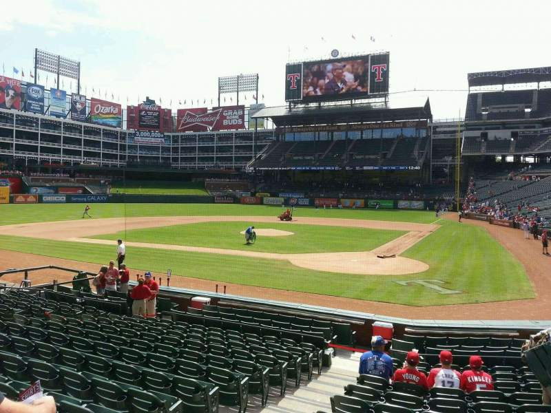 Seating view for Globe Life Park in Arlington Section 23 Row 13 Seat 3