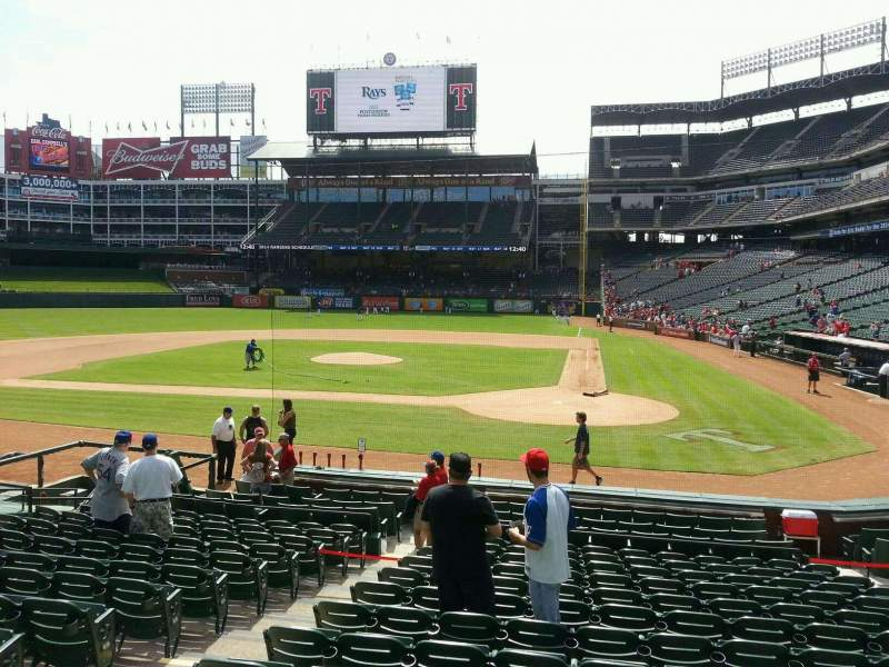 Seating view for Globe Life Park in Arlington Section 22 Row 14 Seat 5