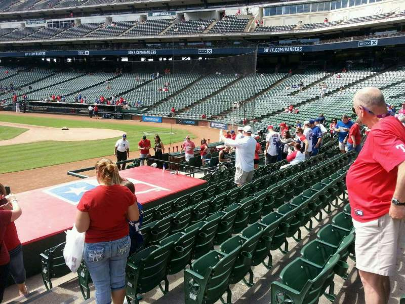 Seating view for Globe Life Park in Arlington Section 19 Row 10 Seat 16