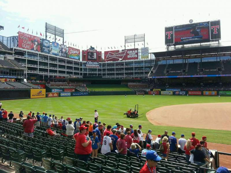 Seating view for Globe Life Park in Arlington Section 18 Row 12 Seat 11