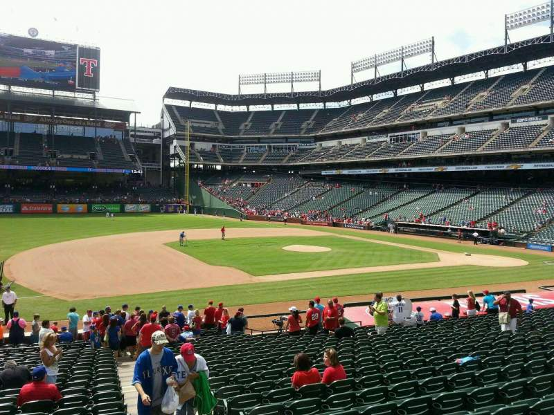 Seating view for Globe Life Park in Arlington Section 17 Row 22 Seat 13