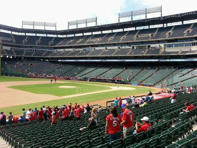 Seating view for Globe Life Park in Arlington Section 16 Row 19 Seat 18