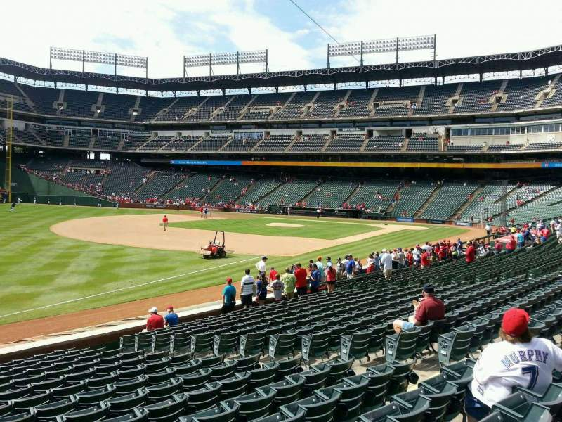 Seating view for Globe Life Park in Arlington Section 14 Row 16 Seat 8