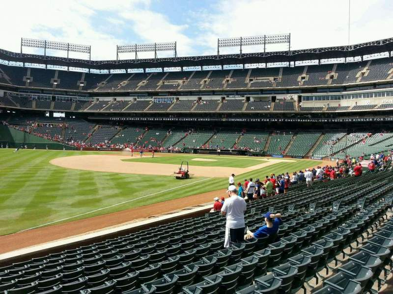Seating view for Globe Life Park in Arlington Section 13 Row 13 Seat 7