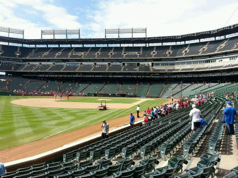 Seating view for Globe Life Park in Arlington Section 12 Row 12 Seat 12