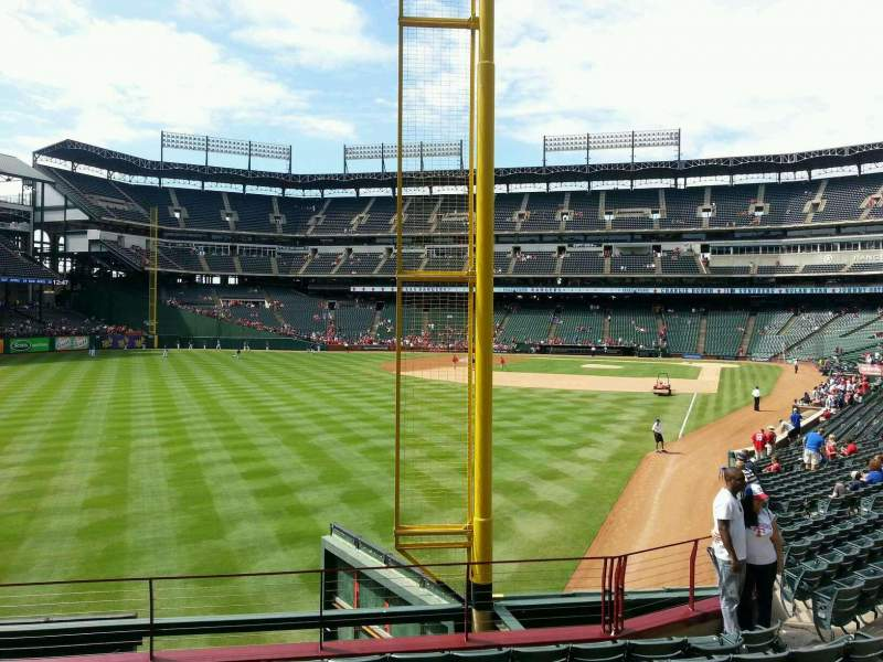 Seating view for Globe Life Park in Arlington Section 9 Row 9 Seat 9