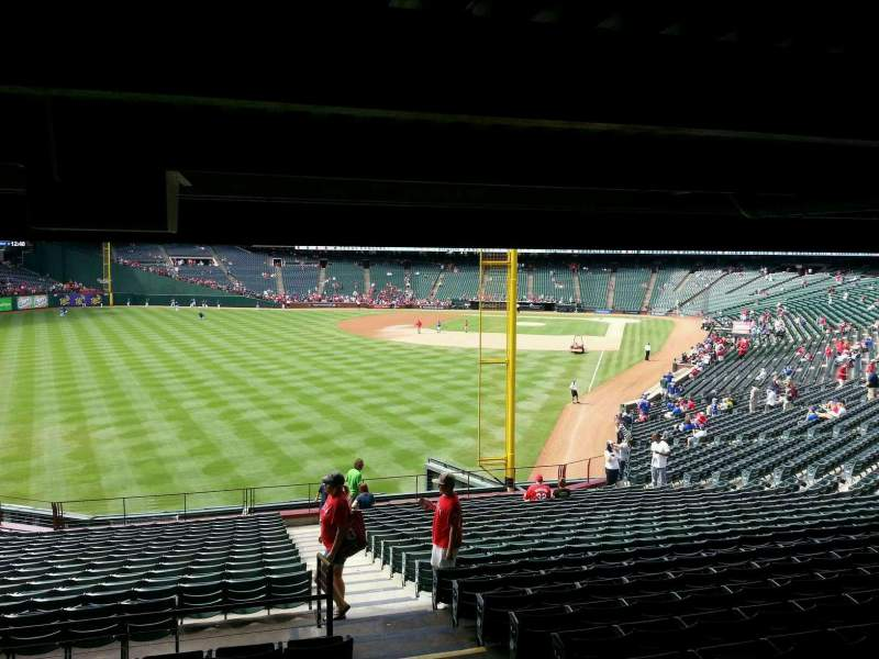 Seating view for Globe Life Park in Arlington Section 8 Row 24 Seat 14