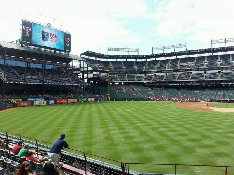 Seating view for Globe Life Park in Arlington Section 8 Row 8 Seat 11