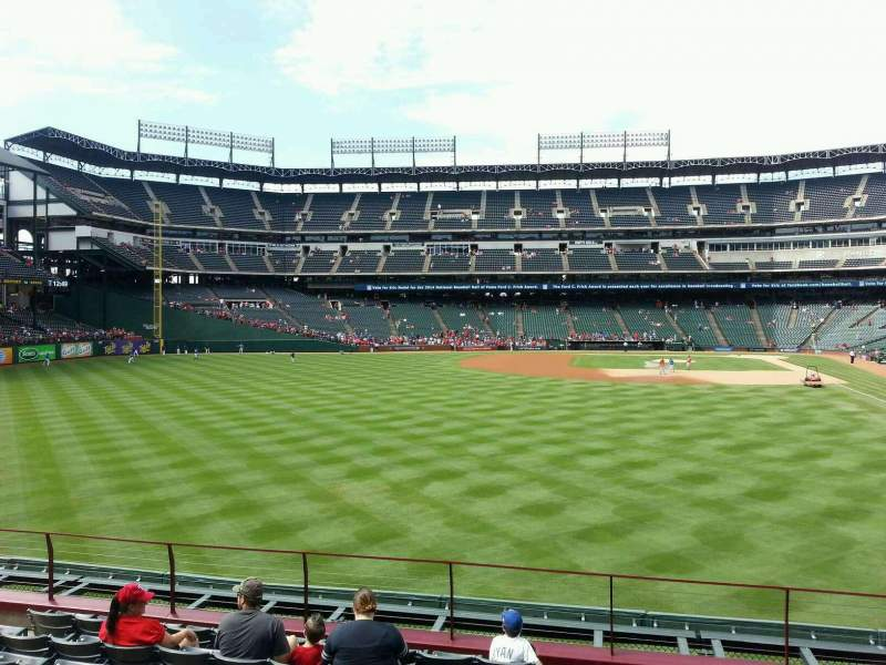Seating view for Globe Life Park in Arlington Section 6 Row 9 Seat 10