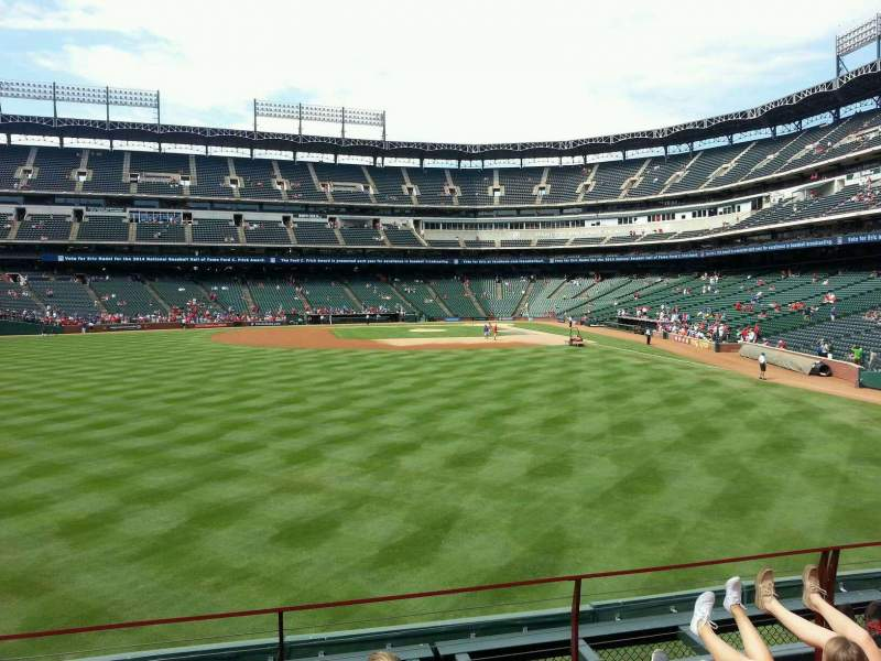 Seating view for Globe Life Park in Arlington Section 5 Row 5 Seat 5