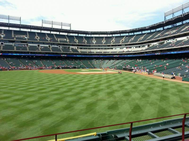Seating view for Globe Life Park in Arlington Section 4 Row 4 Seat 4