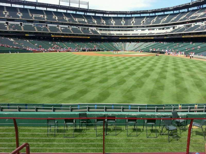 Seating view for Globe Life Park in Arlington Section 54 Row 13 Seat 1