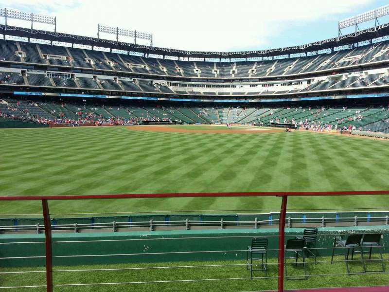 Seating view for Globe Life Park in Arlington Section 53 Row 12 Seat 12