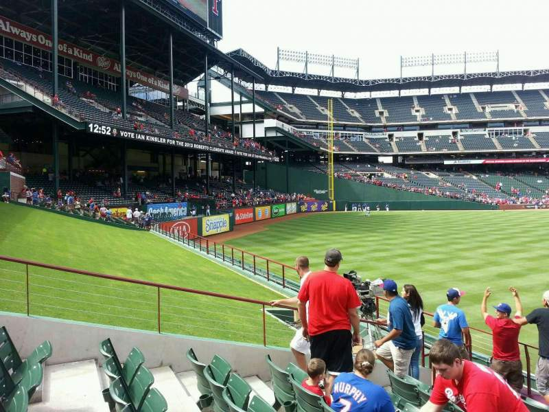 Seating view for Globe Life Park in Arlington Section 52 Row 9 Seat 12