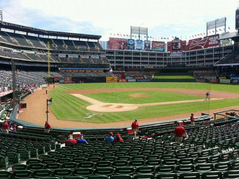 Seating view for Globe Life Park in Arlington Section 28 Row 17 Seat 8