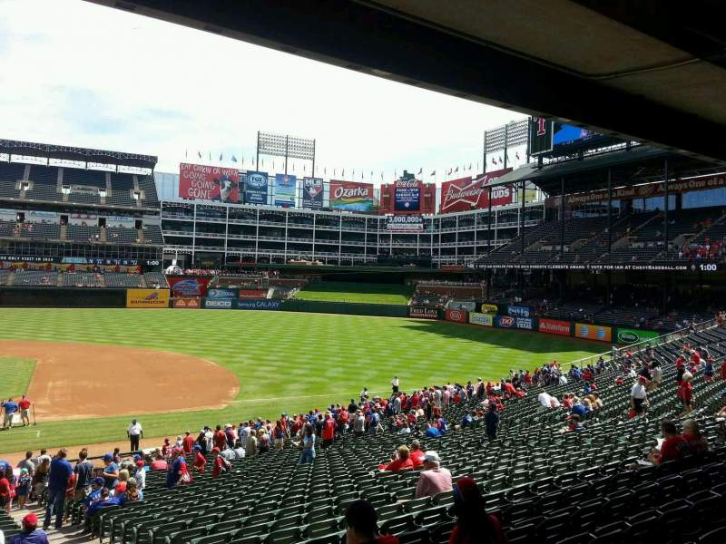 Seating view for Globe Life Park in Arlington Section 33 Row 32 Seat 16
