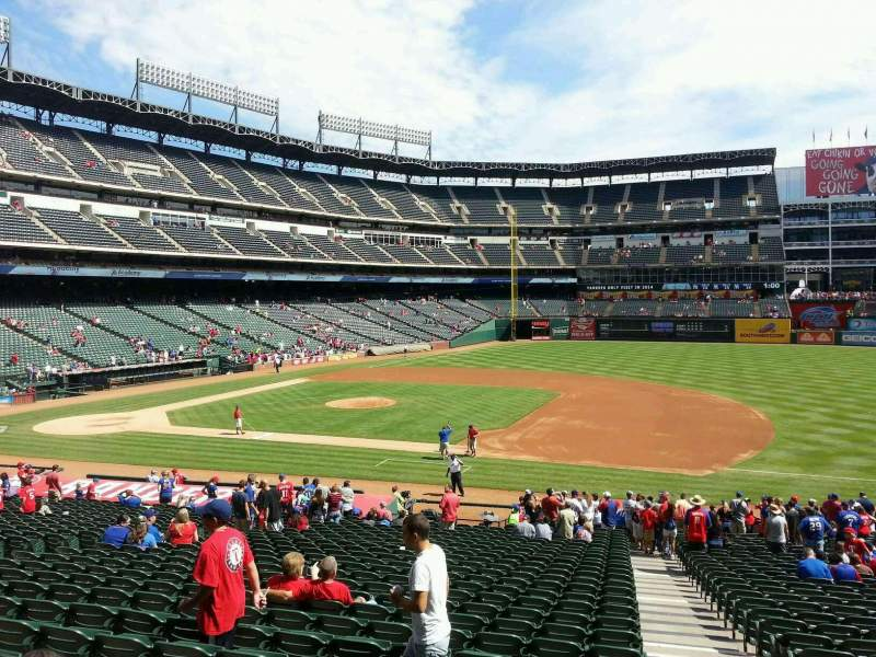 Seating view for Globe Life Park in Arlington Section 34 Row 29 Seat 18