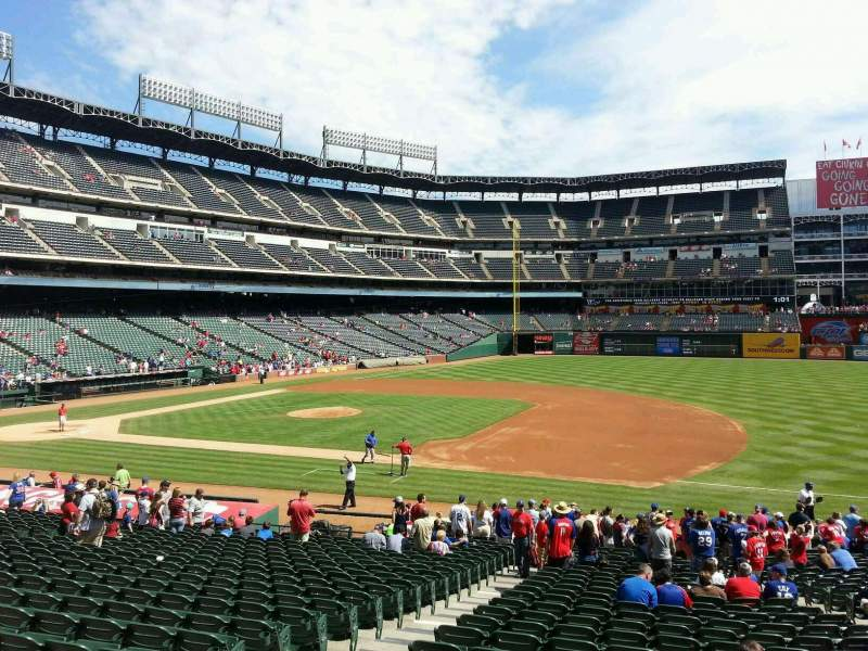 Seating view for Globe Life Park in Arlington Section 35 Row 25 Seat 5
