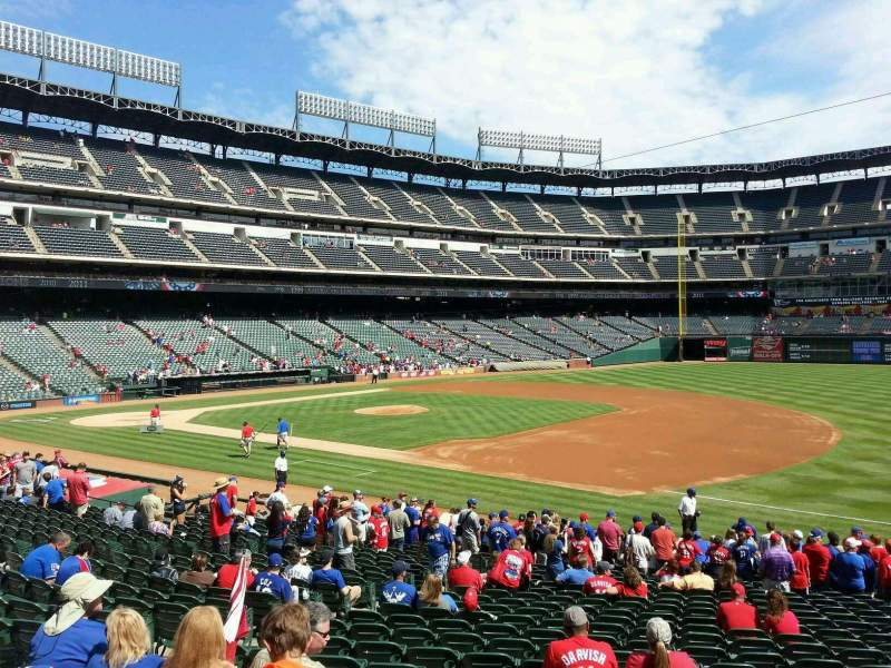 Seating view for Globe Life Park in Arlington Section 36 Row 21 Seat 9