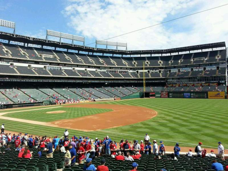Seating view for Globe Life Park in Arlington Section 37 Row 22 Seat 9