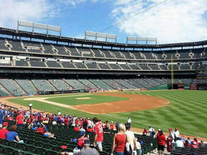 Seating view for Globe Life Park in Arlington Section 38 Row 23 Seat 3