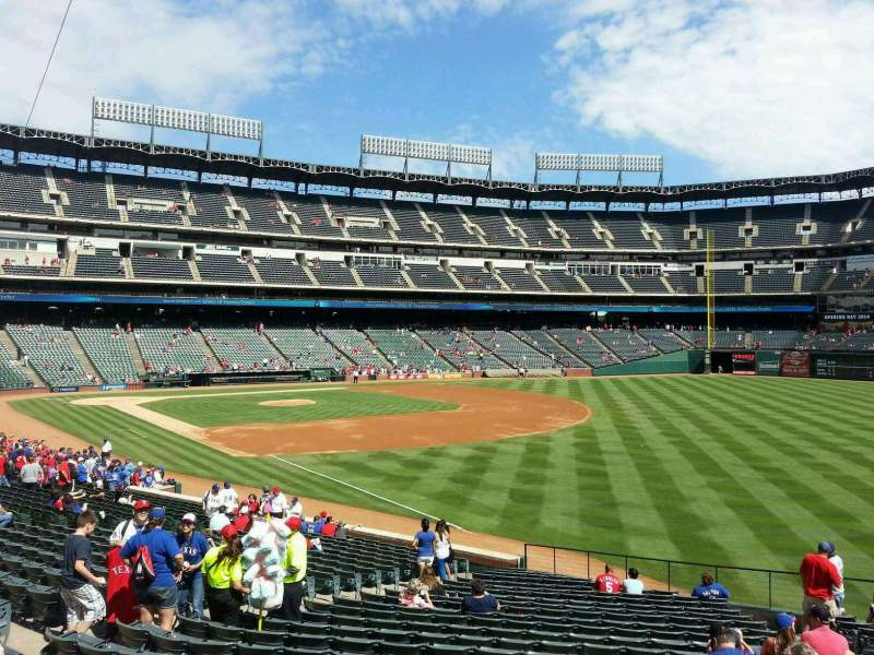 Seating view for Globe Life Park in Arlington Section 39 Row 25 Seat 14