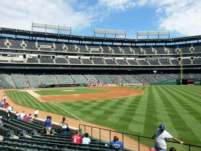 Seating view for Globe Life Park in Arlington Section 40 Row 16 Seat 1