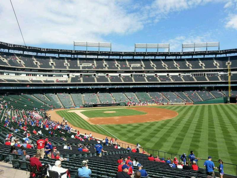 Seating view for Globe Life Park in Arlington Section 40 Row 38 Seat 19