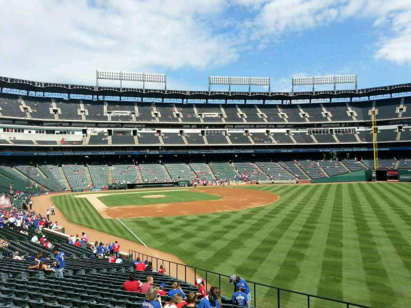Seating view for Globe Life Park in Arlington Section 41 Row 29 Seat 1