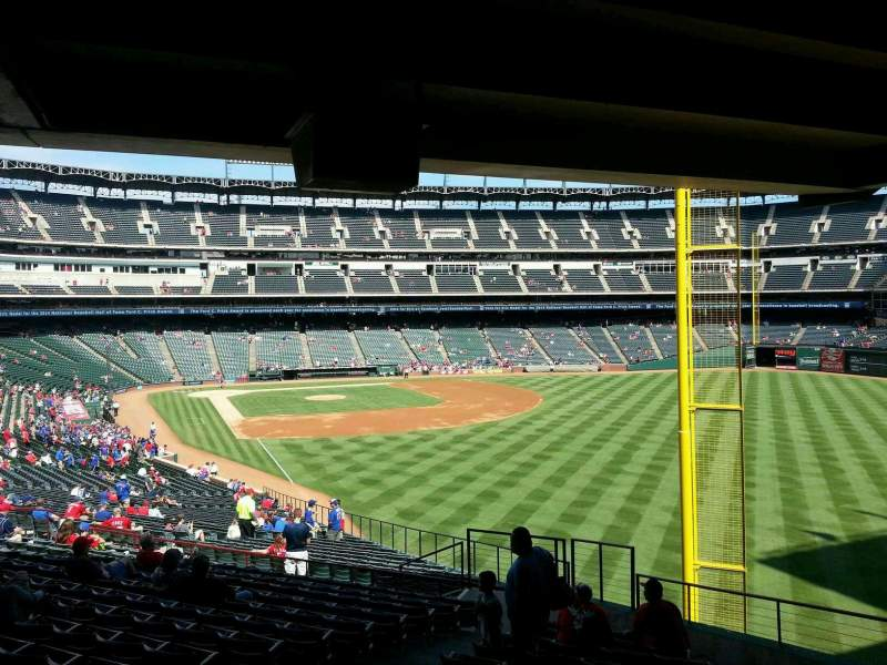 Seating view for Globe Life Park in Arlington Section 42 Row 46 Seat 5