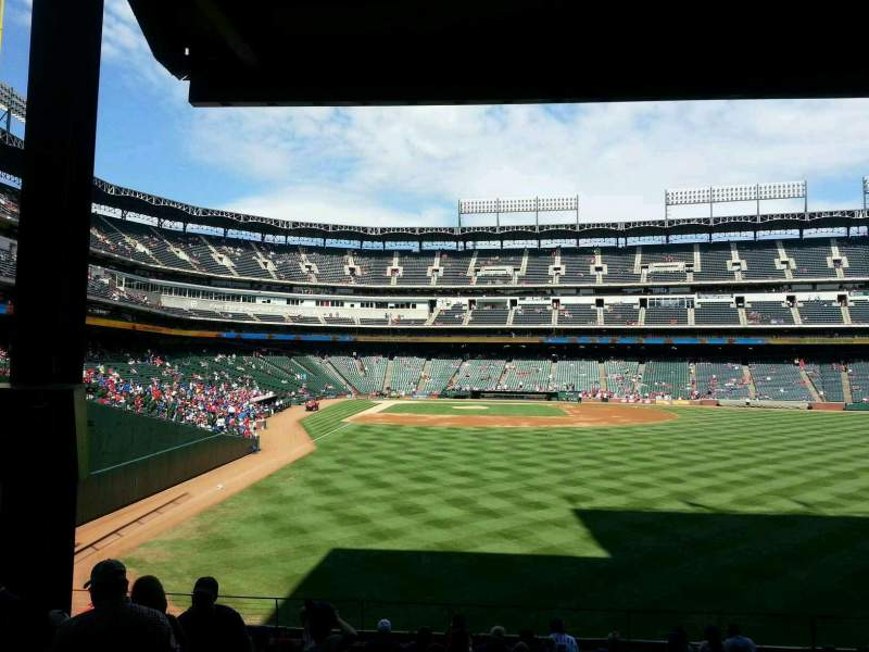Seating view for Globe Life Park in Arlington Section 45 Row 16 Seat 6