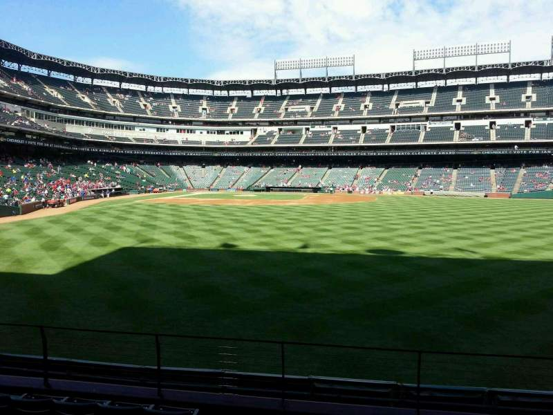 Seating view for Globe Life Park in Arlington Section 47 Row 7 Seat 1