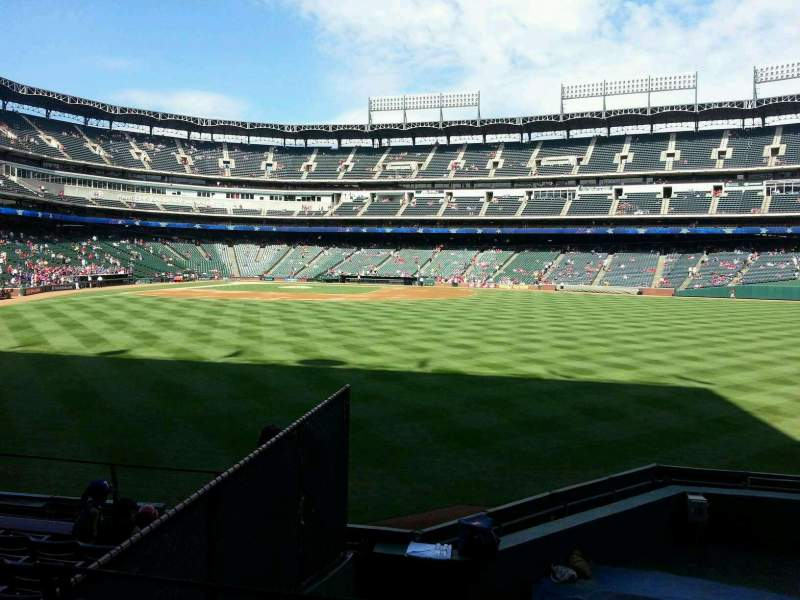 Seating view for Globe Life Park in Arlington Section 48 Row 8 Seat 4