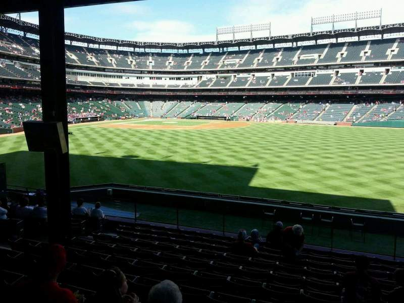 Seating view for Globe Life Park in Arlington Section 49 Row 17 Seat 11
