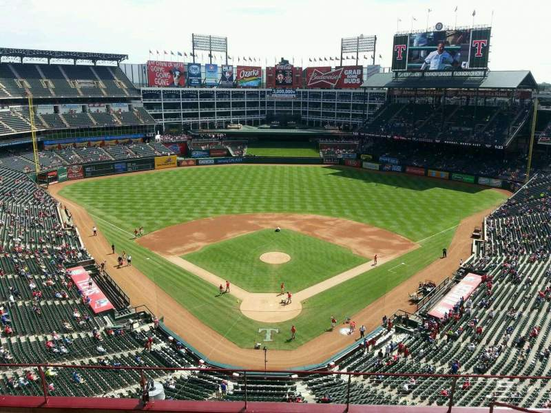 Seating view for Globe Life Park in Arlington Section 326 Row 8 Seat 14