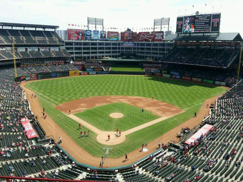 Seating view for Globe Life Park in Arlington Section 327 Row 4 Seat 2