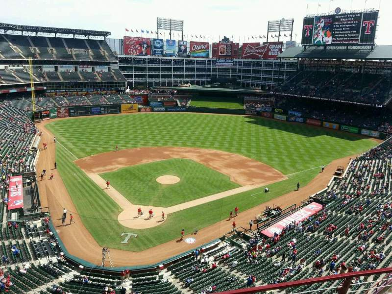 Seating view for Globe Life Park in Arlington Section 328 Row 3 Seat 6