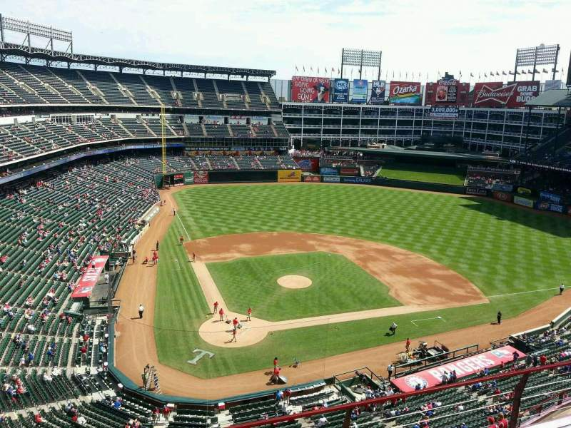 Seating view for Globe Life Park in Arlington Section 329 Row 4 Seat 11