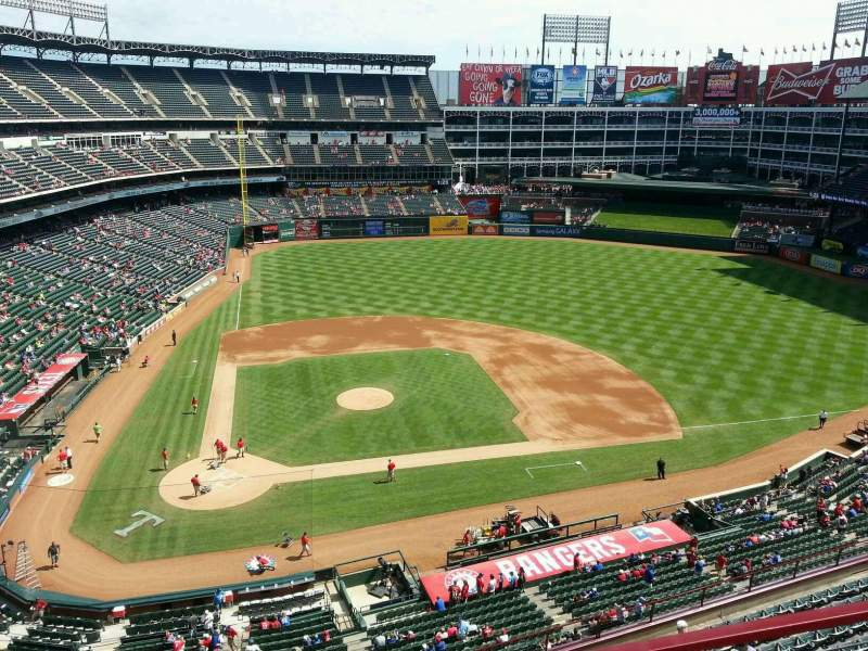 Seating view for Globe Life Park in Arlington Section 331 Row 2 Seat 4