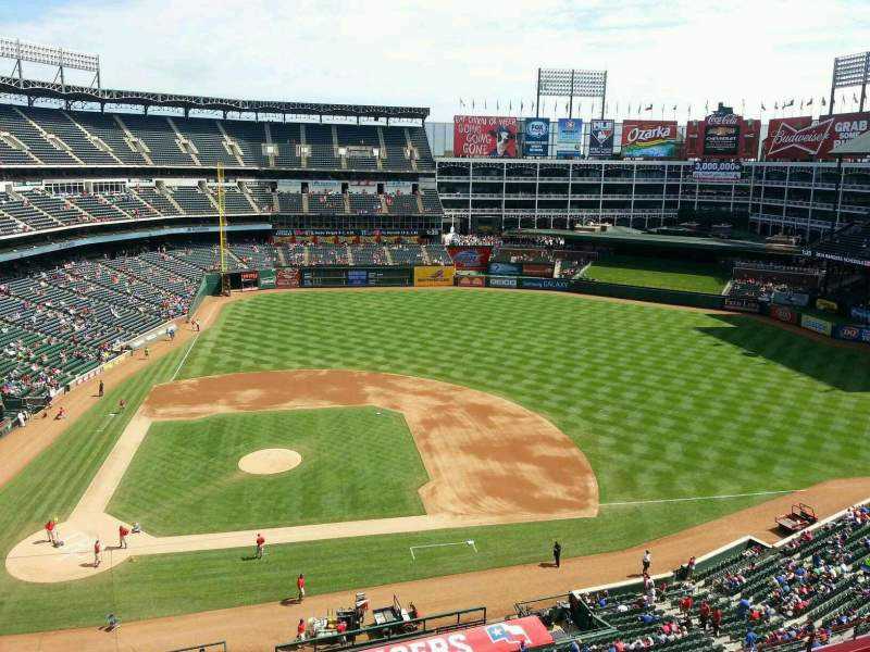 Seating view for Globe Life Park in Arlington Section 332 Row 2 Seat 8