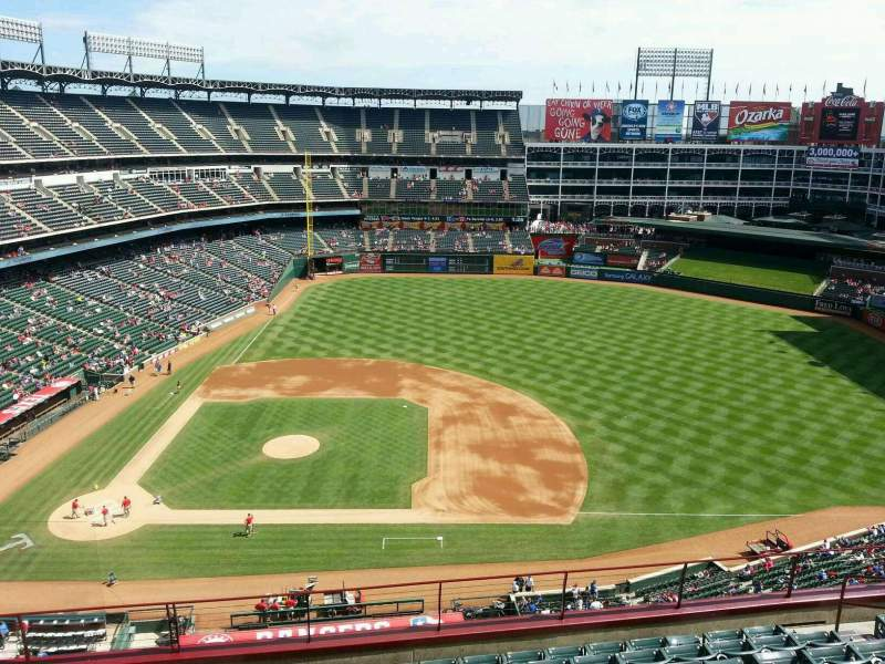 Seating view for Globe Life Park in Arlington Section 333 Row 10 Seat 7